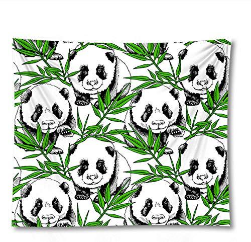 YYZCM Tapices para colgar en la pared, diseño bohemio de panda hippie psicodélico pequeño tapiz póster -S/95 x 73 cm