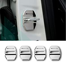 YYD Car Door Lock Cover Suitable for Audi A6L door lock cover door lock rust cover ,Carbonfiber 4Pcs