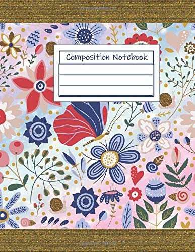 Composition Notebook: Wide Ruled Notebook