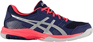 Official Brand Asics Gel Rocket 8 Trainers Womens Shoes Purple/Pink Badminton Sports Footwear