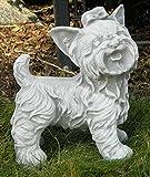 Beton Figur West White Terrier stehend klein H 26 cm Dekofigur und Gartenfigur