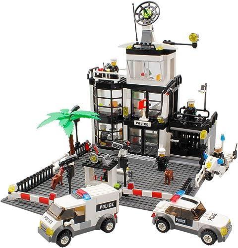 Service de police de la ville, jouets pour enfants, blocs de construction urbains, jouets éducatifs, voitures de police tout-terrain, voitures-prisons, voitures de surveillance, jouets de construction
