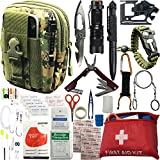 Survival Kit Emergency Gears + First Aid Gifts for Men Son Boyfriend Dad Husband Father's Day 30+ Items in 1; Include Essential Tools for Adventures Camping Biking Hunting Outdoor Hiking