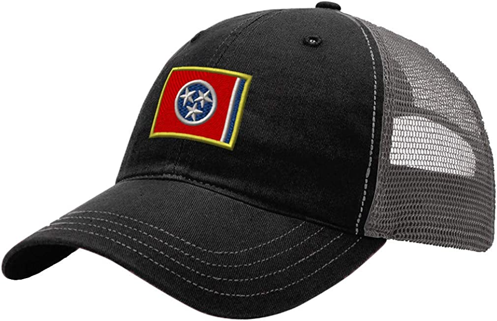 Custom Trucker Hat Richardson Tennessee State Flag Embroidery State Name Cotton