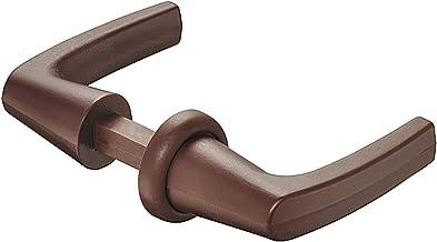 Gedotec Deurklink garnituur rozet grepen voor Push-Lock opschroef-slot, kunststof bruin, drukstiftprofiel 7 mm, 1 stuk - p...