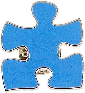 blue puzzle piece pin
