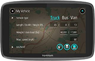 TomTom Truck Sat Nav GO Professional 6250 with European Maps and Traffic Services (Via SIM), Updates via WI-FI, Designed for Truck, Coach, Bus and Large Vehicles