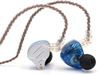 Linsoul KZ ZSN Pro Dual Driver 1BA+1DD Hybrid Metal Earphones HiFi in-Ear Monitor with Detachable 2Pin Cable, Zin Alloy Panel Without Mic Blue