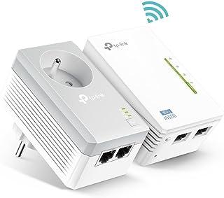 [Vecchio Modello] TP-Link Powerline 600Mbps WiFi 300 Mbps con 2 porte Ethernet e presa integrata, Kit di 2 - Ideale per go...