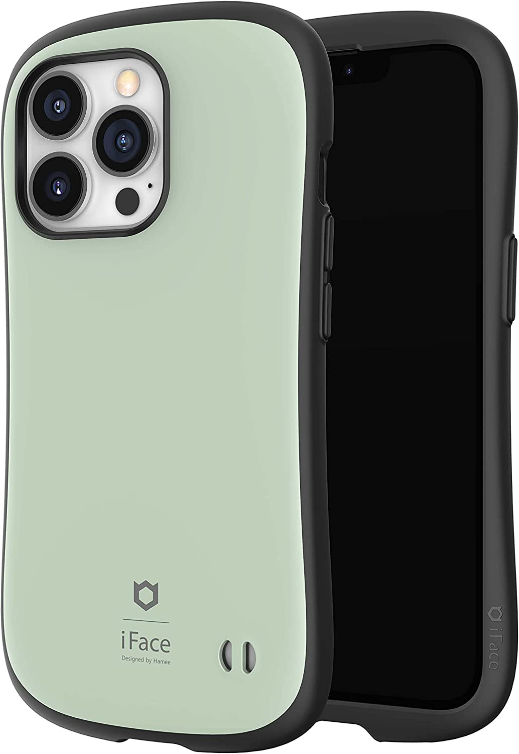 iFace First Class Kusumi Series Designed for iPhone 13 Pro - Soft Light Pastel Aesthetic Colors // Cute Shockproof Dual Layer [Hard Shell + Bumper] Phone Case [Drop Tested] - Green