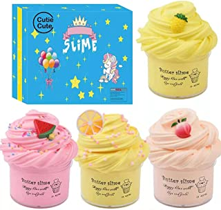 Cutiecute Slime Kit,Super Soft & Non-Sticky, Stress Relief Toy Scented Sludge Toy for Kids Education, Party Favor, Gift an...
