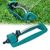 Bestine 15 Holes Oscillating Lawn Sprinkler for Large Surfaces, 4 Gear Adjustable Sprinkling