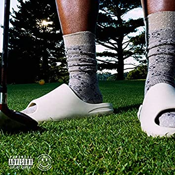 Yeezy Slides, Gucci Socks