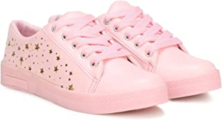 Belobog Latest Collection, Comfortable & Fashionable Sneaker Shoes for Women's and Girls Pink Color