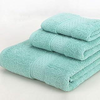 LIFEILONG Toalla para el hogar del Hotel, Juego de Toallas de baño de algodón Liso de 3 Tapa Dura Verde Verde 02-1-1-1 34x34cm 33x74cm 70x140cm