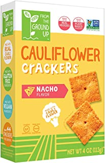 Real Food From the Ground Up Cauliflower Crackers - 6 Pack (Nacho, Crackers)