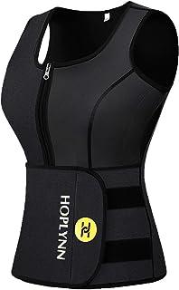 HOPLYNN Neoprene Sauna Sweat Vest for Women, Waist Trainer Corset Trimmer Vest with Belt for Weight Loss Women