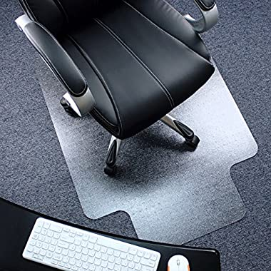 Marvelux 36  x 48  Polycarbonate (PC) Chair Mat for Low, Standard and Medium Pile Carpets | Lipped | Transparent Carpet Protector | Multiple Sizes