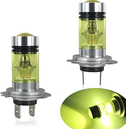 Studyset LED Bulbs H7 2835 LED 100W Fog Driving Light High Power Auto Car HID Yellow Light DRL Bulbs 2Pcs