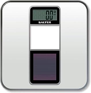 Salter Eco - Bascula de baño digital, solar, capacidad 180 kg, color blanco