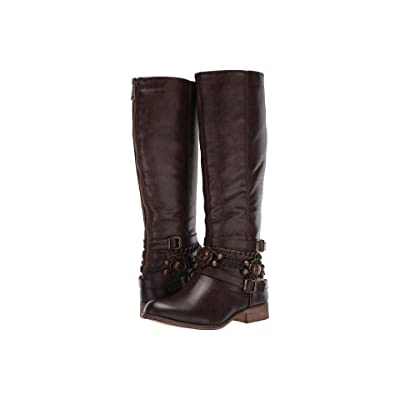 Roper Penny (Burnished Brown Faux Leather) Cowboy Boots