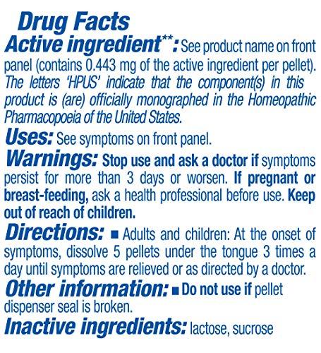 Boiron Antimonium crudum 200ck, 80 pellets, homeopathic Medicine for Indigestion, 3 Count