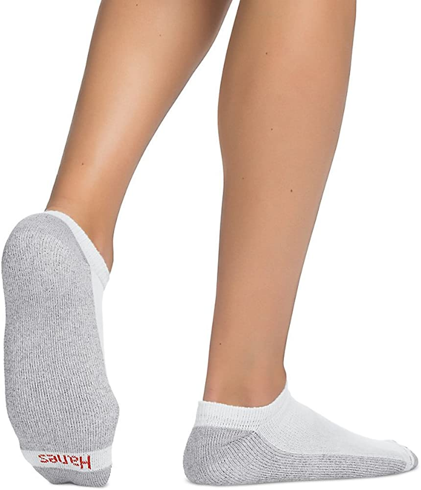 Hanes Men's No-Show Socks 12-Pack_White_10-13