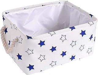 rismart Cube Boîte de rangement pliable en toile avec poignées pour la tenue de la linge, des jouets, des vêtements et des...