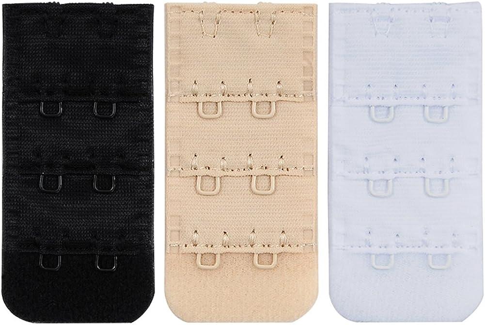 Closecret Womens Nylon Bra Extender Multi-size Brassiere Strap Extension