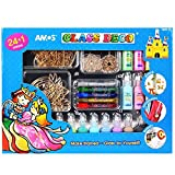 AMOS Glass Deco Window Sticker Art 24 + 1 Colors Sets Make Stained - Glass By Yourself