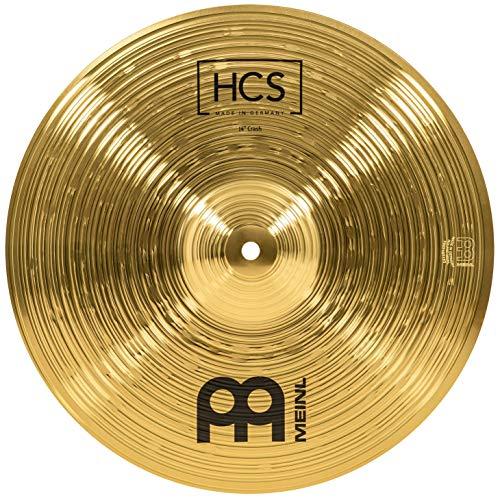 Meinl Cymbals HCS 14 Zoll Crash Becken für Schlagzeug – Messing, traditionelles Finish (HCS14C)