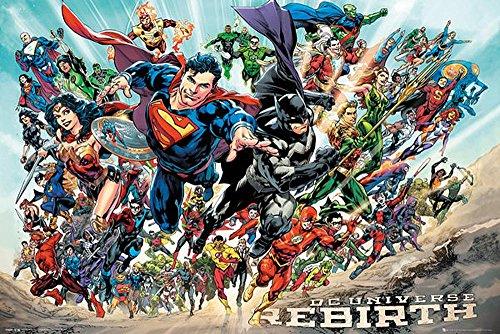 Póster DC Universe Rebirth - All Stars Tamaño: 91,5cm x 61cm Su poster está entregado en un embalaje robusto Le regalamos un poster sorpresa de buena calidad junto a su póster