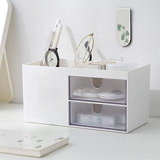 Faffooz Boîte de Rangement de Bureau avec 4 Compartiments Multi-fonctionnels Organisateur de Bureau bureau de porte-crayon...