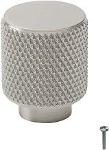 """Beslag Design - 1 stuk kastknop rond """"Helix"""" roestvrij stalen look gekarteld - Ø 20 mm, D: 25 mm - commodeknop deurknop ka..."""