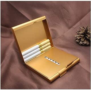 LBLMSB Cigarette Holder, Gold/Silver/Blue/Black Cigarette Case 20 Pieces Aluminum Ultra-Thin Open Cigarette Case Creative Cigarette Holder, Send Men's Gift (Color : Gold)