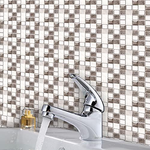 Ylight 3D Mosaico Autoadhesiva Etiqueta Engomada del Azulejo La Pared Incombustible A Prueba Aceite Y A Prueba Humedad per Pareti Camera Letto Adesivo Cucina Rivestimento