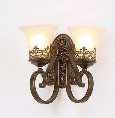 Wall Lights, Bedroom Living Room Bedside Lamp, Modern Minimalist Wrought Iron Wall Lamp, Hotel Engineering Aisle Mirror Headl