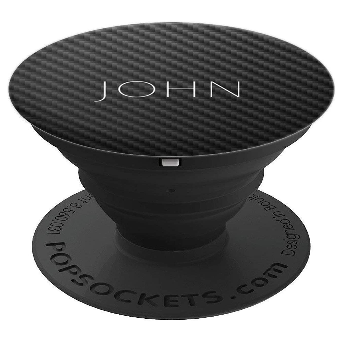 John Name Personalized Birthday Men Boys Car Carbon Gift - PopSockets Grip and Stand for Phones and Tablets