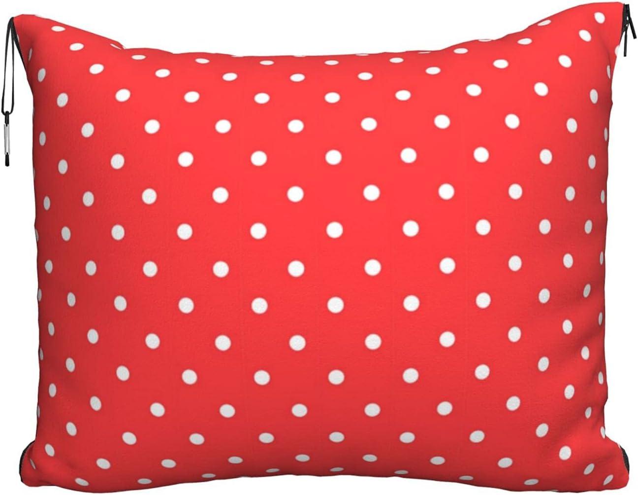 Mescchskred service and White Polka Dots Blanket Travel Pillow Com Max 53% OFF Print