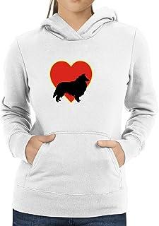 Eddany Collie Rough Heart Love Women Hoodie