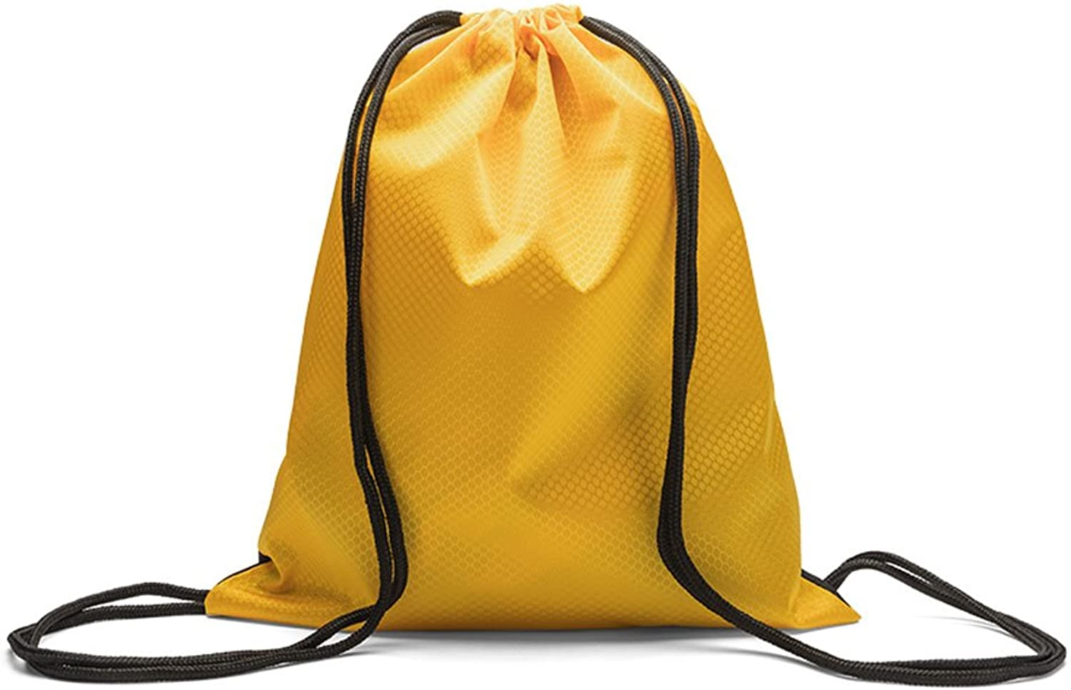DFGdf Waterproof Oxford Cloth Bundle Pocket Sports Shoulder Bag Pull Rope Men and Women Small Backpack (color   Yellow)