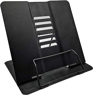 Noir POKIENE Support de Lecture Portable Pupitre de Table Recettes Support Livre de Cuisine R/églable pour Cuisine et Bureau en M/étal pour Livres de Cuisine Tablettes