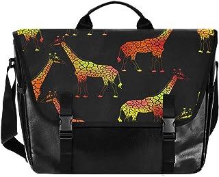 Bolso de lona con diseño de jirafa para hombre y mujer, estilo retro, ideal para iPad, Kindle, Samsung