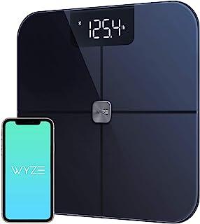 مقیاس Wyze ، مقیاس چربی بدن بلوتوث و مانیتور ترکیب هوشمند بدن ، مقیاس هوشمند BMI ، ردیابی ضربان قلب ، ردیاب درصد چربی بدن ، تجزیه و تحلیل با برنامه گوشی های هوشمند ، سیاه