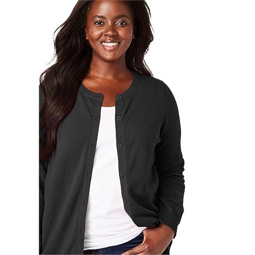 Woman Within Plus Size Perfect Long Sleeve Cardigan cb8cebf3b