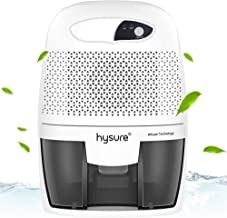 Hysure Small Home Dehumidifier Compact Portable Quiet Moisture Absorber 500ml Water Tank, for Living Room Bathroom Kitchen Garage,Gray