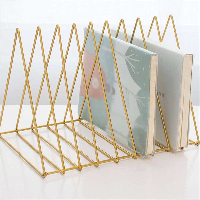 QIZIANG Metall Dreieck Eisen Kunst Desktop Bücherregal Brief Zeitungsständer Halter Home Office Lagerung Hot B07Q5DM9BR | Good Design