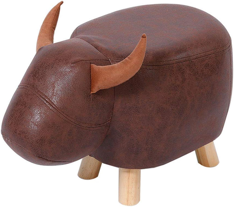 Lil Simple Creative Solid Wood Stool Thick Sponge Household Footstool
