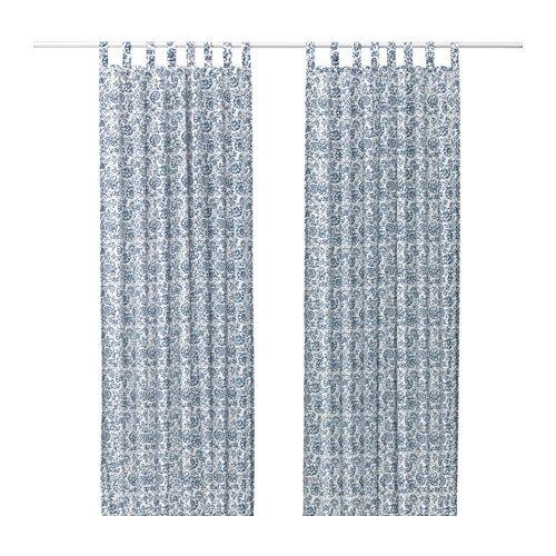 IKEA mjolkort Gardinen 1Paar Blau Weiß 303.129.05