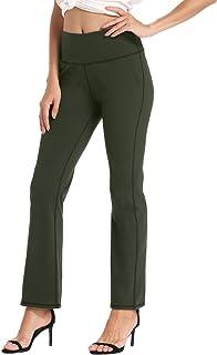 Willit Women's Bootcut Yoga Pants High Waist Workout Bootleg Pants Tummy Control Five Pockets